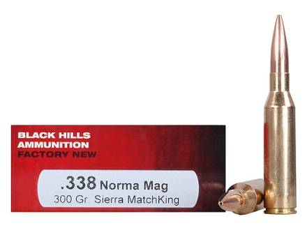 Black Hills Ammunition 338 Norma Magnum 300 Grain Sierra MatchKing Hollow Point Box of 20
