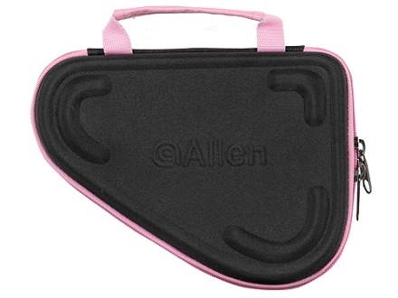 Allen 6-1/2&quot; Molded Compact Pistol Case for 2&quot; Revolvers Foam Shell Black/Pink