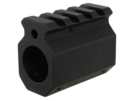 DoubleStar Gas Block Single Picatinny Rail AR-15, LR-308 Standard Barrel .750&quot; Inside Diameter Aluminum Matte