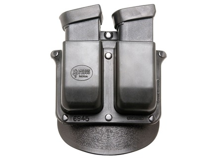 Fobus Paddle Double Magazine Pouch Double-Stack Glock, Para-Ordnance 10mm Auto, 45 ACP Polymer Black