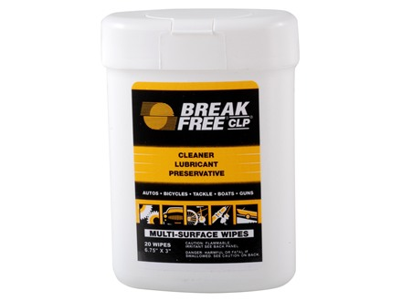 Break-Free CLP Rust Preventative and Lubricant Gun Wipes Package of 20