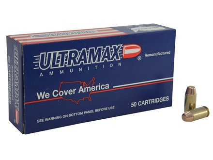 Ultramax Remanufactured Ammunition 40 S&amp;W 180 Grain Full Metal Jacket 