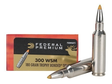 Federal Premium Vital-Shok Ammunition 300 Winchester Short Magnum (WSM) 180 Grain Speer Trophy Bonded Tip Box of 20