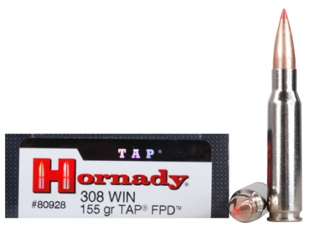 Hornady TAP Personal Defense Ammunition 308 Winchester 155 Grain Polymer Tip Box of 20