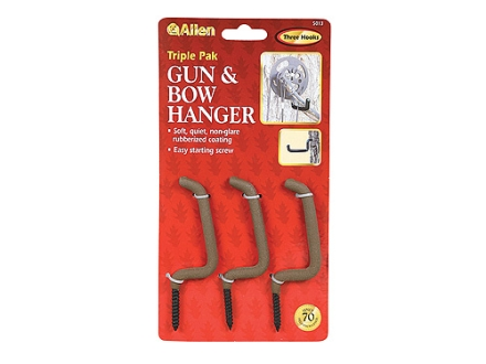 Allen Screw In Gun And Bow Hanger Rubber Coated Steel Black Pack of 3