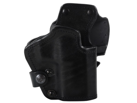 Front Line LKC 3-Layer Belt Holster Right Hand Springfield XD 9/40 Service 4&quot; Suede Lined Leather and Kydex Black