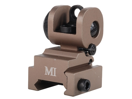 Midwest Industries Flip-Up Rear Sight AR-15 Flat-Top Aluminum Flat Dark Earth