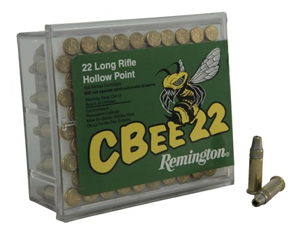 Remington CBee Ammunition 22 Long Rifle 33 Grain Hollow Point Box of 500 (5 Boxes of 100)