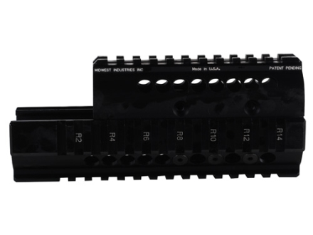 Midwest Industries 2-Piece Handguard Quad Rail Saiga AK-47 Aluminum Black