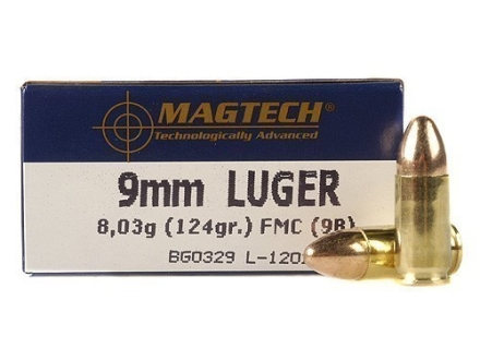 Magtech Sport Ammunition 9mm Luger 124 Grain Full Metal Jacket Box of 50