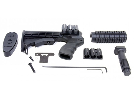 ProMag 6-Position Collapsible Buttstock Set with Pistol Grip, Tri-Rail Forend &amp; Vertical Forend Grip Winchester 1300 12 Gauge Synthetic Black