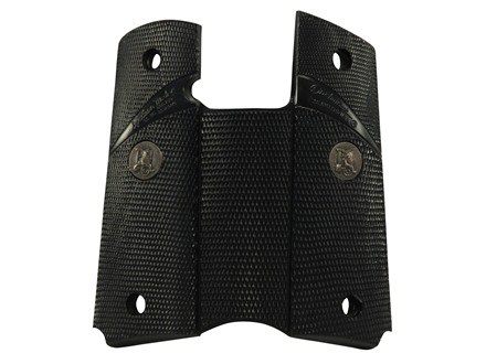 Pachmayr Signature Grips 1911 Government, Commander Combat-Style Rubber Black