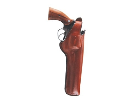 "Bianchi 5BHL Thumbsnap Holster Right Hand Colt Anaconda, S&W 27, 28, 29, 57, N-Frame 4"" Barrel Suede Lined Leather Tan"
