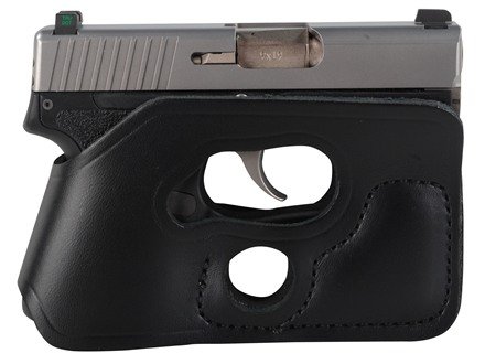 DeSantis Pocket Shot Holster Ambidextrous Kimber Solo Carry, Kahr PM9, Rohrbaugh R9 Leather Black