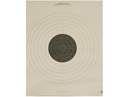 NRA Official International Pistol Target B-19 25/50 Yard Slow Fire Paper Package of 100