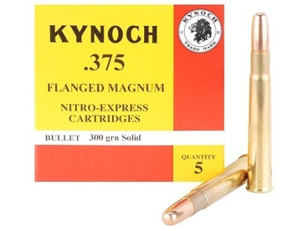 Kynoch Ammunition 375 Flanged Magnum 300 Grain Woodleigh Weldcore Solid Box of 5