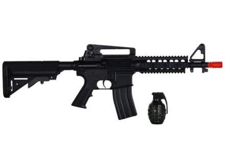 Stunt Studios Stunt Police M4 Airsoft Rifle 6mm Electric Full-Automatic Polymer Black