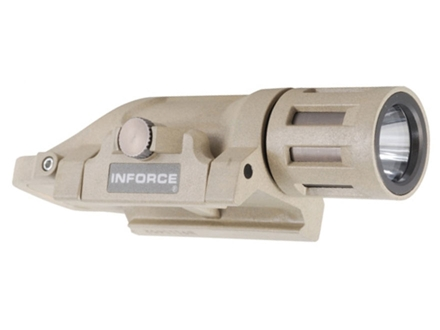 Inforce WML Tactical Weaponlight Momentary White LED  Fits Picatinny Rails Fiber Composite Desert Sand