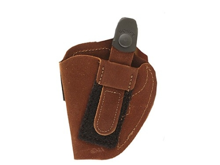 Bianchi 6D ATB Inside the Waistband Holster Right Hand S&W 640, J-Frame with Concealed Hammer Suede Tan