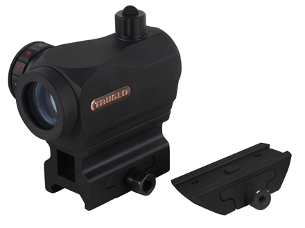 TRUGLO Triton Red Dot Sight 5 MOA Red, Green and Blue Dot with Integral High and Low Weaver-Style Mount Matte