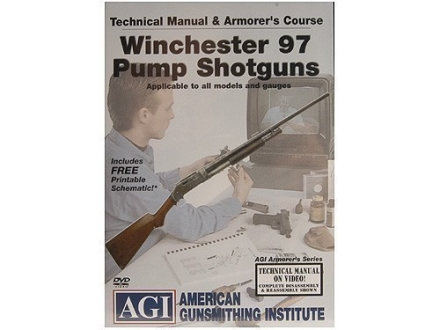 "American Gunsmithing Institute (AGI) Technical Manual & Armorer's Course Video ""Winchester 97 Pump Shotguns"" DVD"