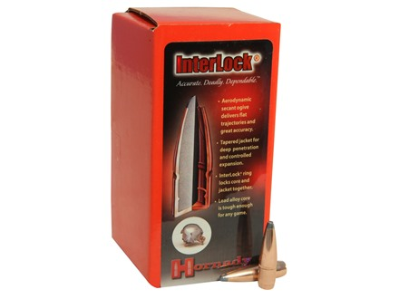 Hornady InterLock Bullets 284 Caliber, 7mm (284 Diameter) 139 Grain Boat Tail Spire Point Box of 100