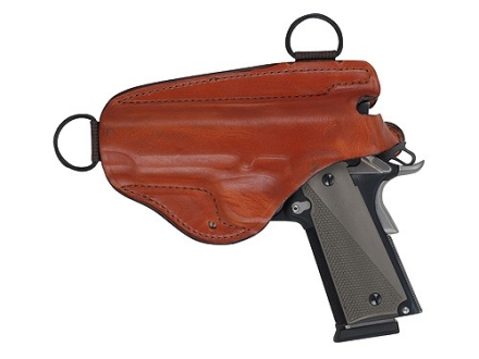 Bianchi X16H Agent X Shoulder Holster Left Hand 1911 Government, Browning Hi-Power Leather Tan