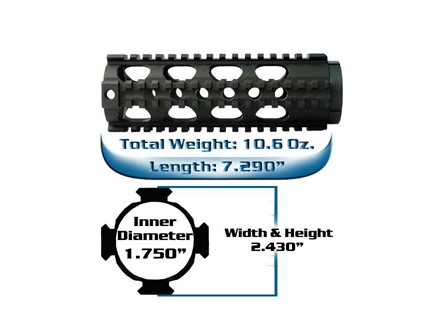 Yankee Hill Machine Free Float Tube Handguard Lightweight Quad Rail AR-15 Aluminum Matte