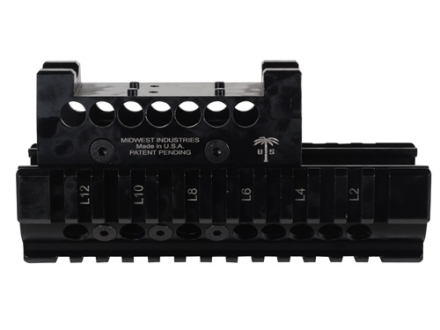 Midwest Industries US Palm 2-Piece Railed Handguard AK-47, AK-74 with Leupold Delta Point Top Cover Optic Mount Aluminum