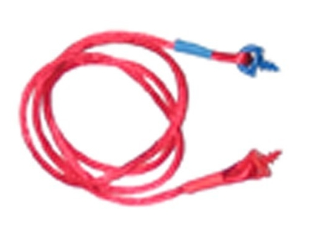 Radians Custom Molded Ear Plug Lanyard Nylon Red with 1 Red and 1 Blue Screw