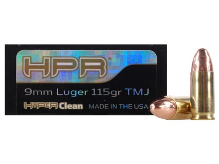 HPR HyperClean Ammunition 9mm Luger 115 Grain Total Metal Jacket Box of 50