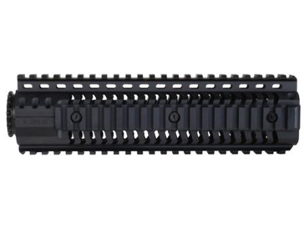 SI Defense 2-Piece Customizable Quad Rail Free Float Handguard LR-308 Mid Length Matte