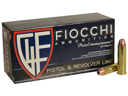 Fiocchi Shooting Dynamics Ammunition 357 Magnum 158 Grain Jacketed Hollow Point Box of 50