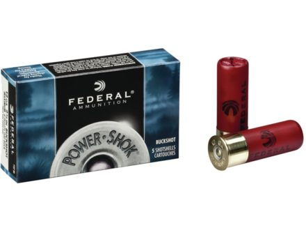 Federal Power-Shok Ammunition 12 Gauge 2-3/4&quot; Buffered 000 Buckshot 8 Pellets Box of 5