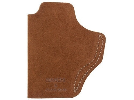 Bianchi 6 Inside the Waistband Holster Right Hand Glock 29. 30, 39, HK USP Compact, Springfield XD9, XD40 Suede Leather Natural