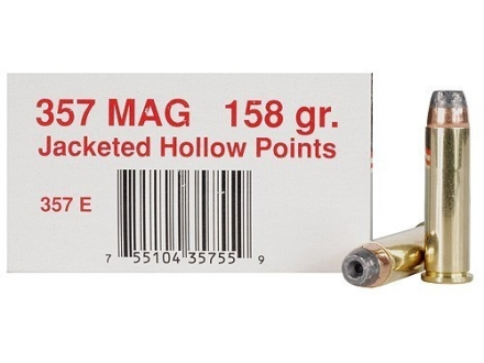 Ultramax  Ammunition 357 Magnum 158 Grain Jacketed Hollow Point Box of 50