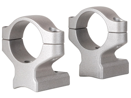 "Remington 2-Piece Scope Mounts with Integral 1"" Rings Remington 700 Silver Medium"