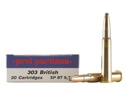 Prvi Partizan Ammunition 303 British 150 Grain Soft Point Box of 20
