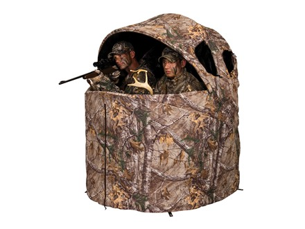 Ameristep Two-Man Chair Ground Blind 56&quot; x 21&quot; x 57&quot; Polyester Realtree Xtra Camo