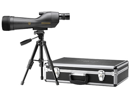 Leupold SX-1 Ventana Spotting Scope 20-60x 80mm Armored Black with Tripod, Hard and Soft Case