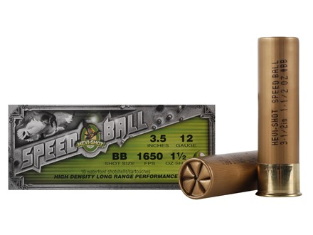 "Hevi-Shot Speedball Waterfowl Ammunition 12 Gauge 3-1/2"" 1-1/2 oz BB Non-Toxic Shot"