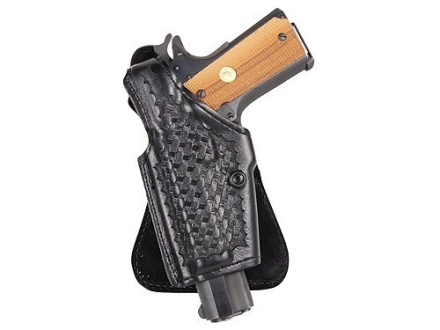 Safariland 518 Paddle Holster Left Hand S&W 39, 59, 439, 459, 639, 659, 915, 3904, 3906, 5903 Basketweave Laminate Black