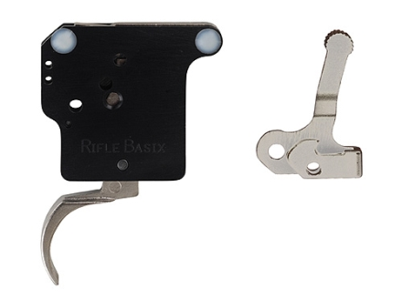 Rifle Basix Rifle Trigger Remington 700, 40X with Safety and Bolt Release 1-1/2 lb to 3 lb Post-2006 Silver