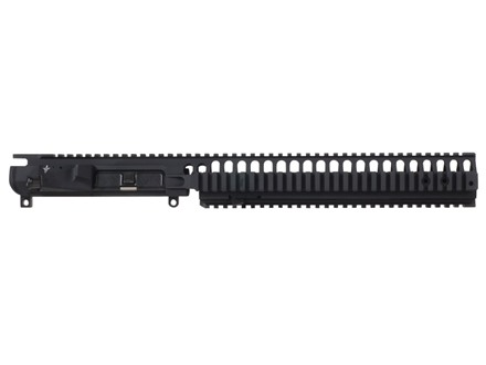 "Vltor VIS Upper Receiver with Integral 12"" Rifle Length Free Float Quad Rail Handguard & Combination Forward Assist / Shell Deflector Assembled AR-15 Flat-Top Matte"