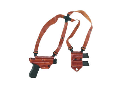 Galco Miami Classic 2 Shoulder Holster System Right Hand 1911 Government, Commander, Officer, Defender, Springfield EMP Leather Tan