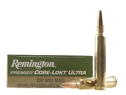 Remington Premier Ammunition 300 Winchester Magnum 180 Grain Core-Lokt Ultra Bonded Pointed Soft Point Box of 20