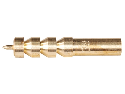 Dewey Pistol Cleaning Jag 38, 357 and 9mm 12 x 28 Female Thread Brass