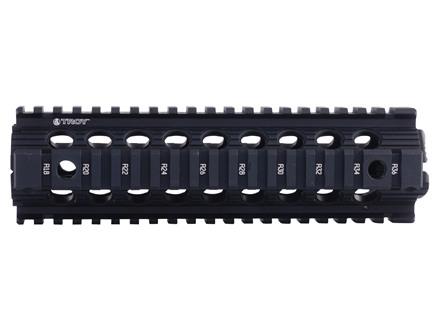 Troy Industries 9&quot; MRF Drop-In Battle Rail 2-Piece Quad Rail Handguard AR-15 Mid Length