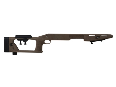 "Choate Sniper Custom Rifle Stock Savage 10 Short Action Center Feed with 4.4"" Screw Spacing with Adjustable Length of Pull and Cheek Rest Varmint Barrel Channel Composite Black"