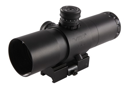 Vism CQB Prismatic Rifle Scope 30mm Tube 3x 42mm P4 Sniper Reticle with Quick Release Picatinny-Style Mount Matte